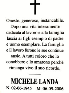 Michele Landa memoria