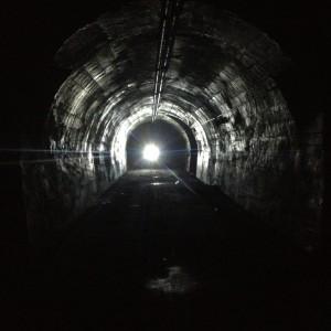 nel tunnel del Proto nel cuore del Monte Massico