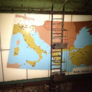 la mappa della sala comando