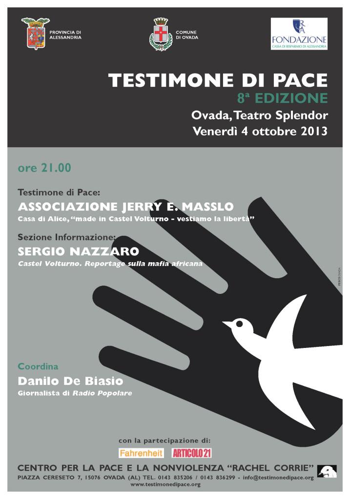 Testimone di Pace 2013